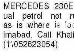 mercedes benz e class e230 1989 for sale in karachi